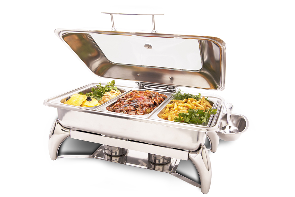prestoware pwi625 8quart chafing dish with stand is an elegant and versatile solution for your buffet or catering operation