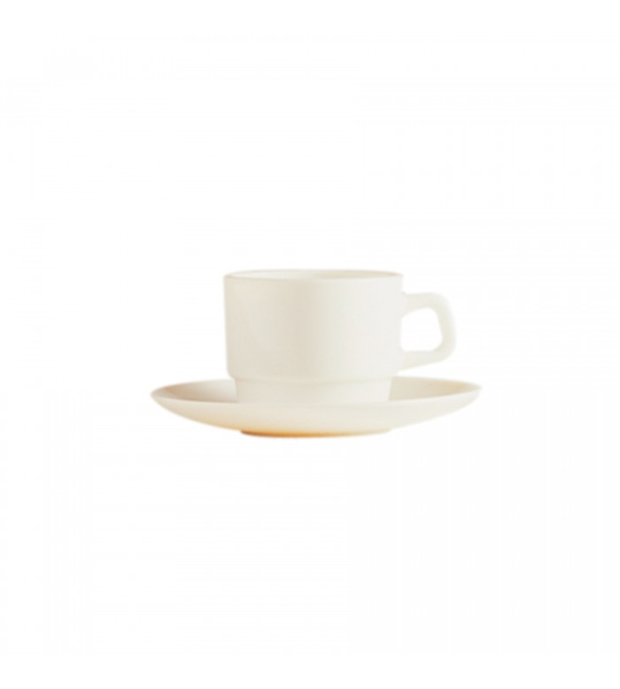 Arcoroc 47982, 8 Oz Opal Reception Ivory Stackable Cup, 36/CS