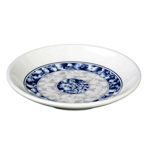 Thunder Group 1004DL 4 Oz 4 1/2 Inch Diameter Asian Blue Dragon Melamine Plate, DZ