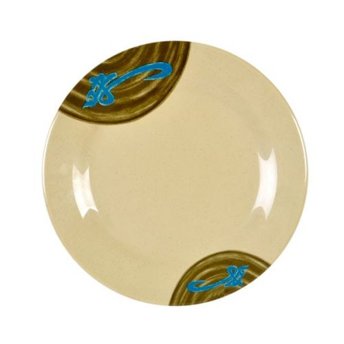 Thunder Group 1014J 14 1/8 Inch Asian Wei Melamine Round Plate, DZ