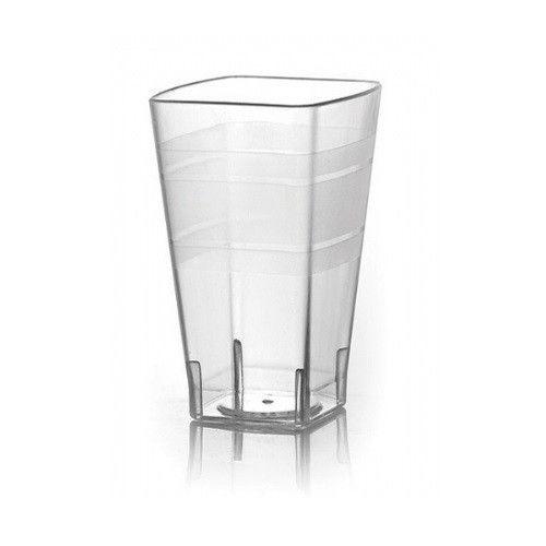 Fineline Settings 1108CL 8 Oz. Wavetrends Clear Square Plastic Tumblers, 168/CS