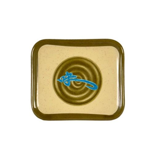 Thunder Group 1201J 4 3/4 x 4 1/4 Inch Asian Wei Melamine Rectangular Plate, DZ