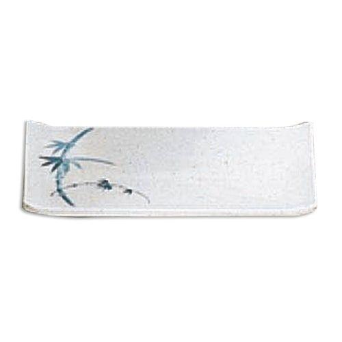 Thunder Group 1503BB 6 3/4 x 4 1/2 Inch Asian Blue Bamboo Melamine Rectangular White Plate, DZ