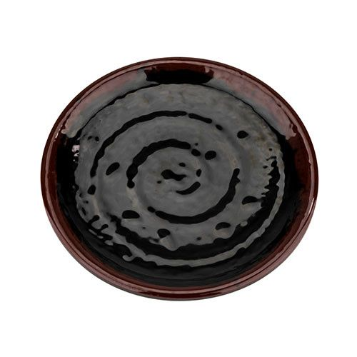 Thunder Group 1812TM 12 Inch Asian Tenmoku Melamine Lotus Shape Plate, DZ