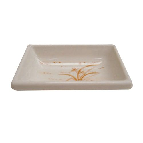 Thunder Group 1901GD 2 Oz 3 3/4 x 2 1/2 Inch Diameter Asian Gold Orchid Melamine Rectangular Sauce Dish, DZ