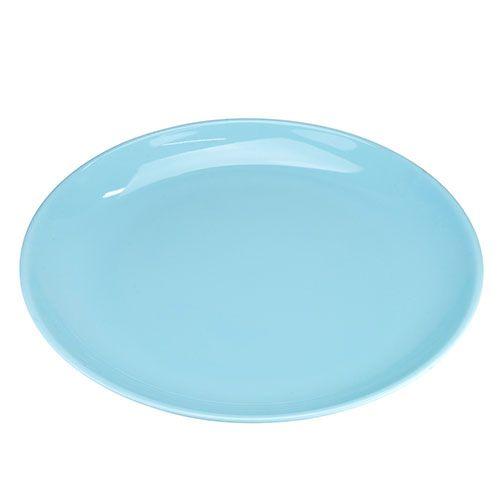 Thunder Group 1908 8 7/8 Inch Diameter Asian Blue Jade Melamine Round Plate, DZ