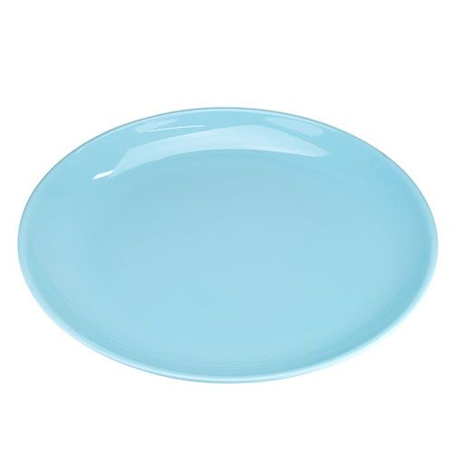 Thunder Group 1914 13 3/4 Inch Diameter Asian Blue Jade Melamine Round Plate, DZ