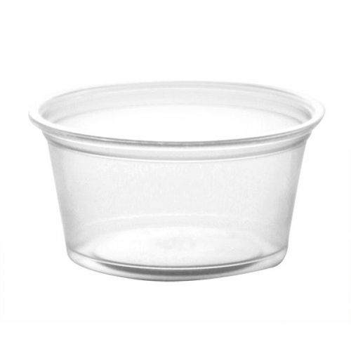 SafePro FK2 2 Oz Clear Polypropylene Portion Cup, 2500/CS. Lids Are Sold Separately