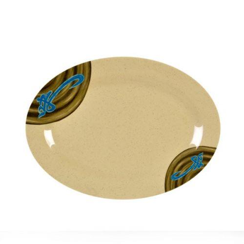 Thunder Group 2012J 12 x 8 5/8 Inch Asian Wei Melamine Oval Platter, DZ