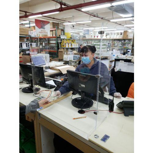 McDonald Paper PROGUARD9 34x9x28-Inch Plexiglass Cashier Protection Sneeze Guard, EA