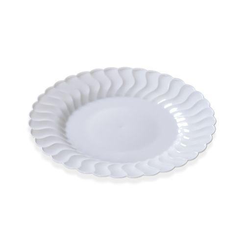 Fineline Settings 206-WH, 6-Inch Flairware White Plastic Dessert Plates, 180/CS
