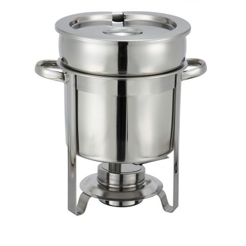 Winco 207, 7-Quart Stainless Steel Chafer-Style Soup Warmer, EA