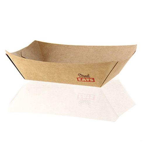 PacknWood 210BQKEAT5, 27-Oz Kraft Paper Rectangular Boat, Brown, 500/CS