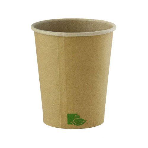 PacknWood 210GCZEN10, 10OZ, Zen Kraft Recyclable Paper Cups, 1000/CS