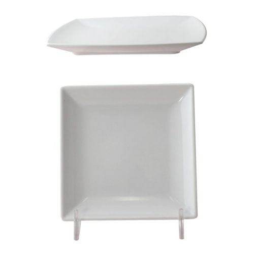 Thunder Group 29004WT 4 1/2 Inch Western Classic White Melamine Square Plate, DZ