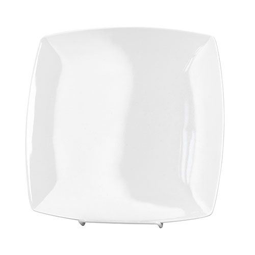 Thunder Group 29009WT 9 Inch Western Classic White Melamine Square Plate, DZ