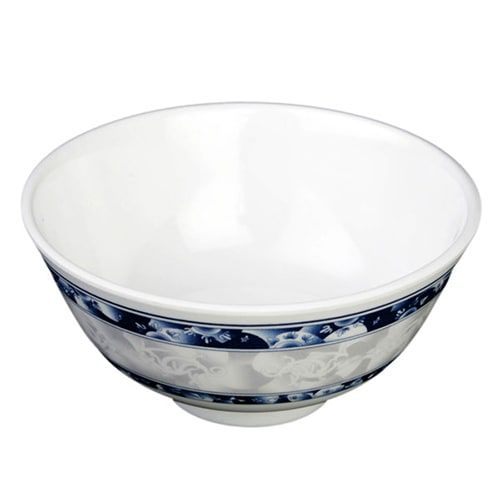 Thunder Group 3004DL 12 Oz 4 7/8 Inch Diameter Asian Blue Dragon Melamine Rice Bowl, DZ