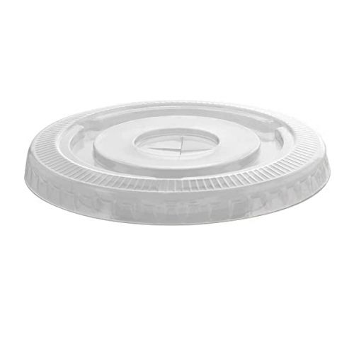 Fineline Settings 3178FLS Clear PET Lid w/Straw Slot, 1000/CS