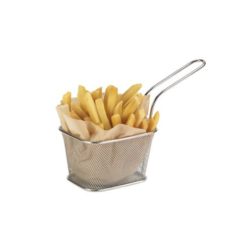 Clipper Mill 4-81868 5x4x3.25-inch Stainless Steel Serving Fry Basket