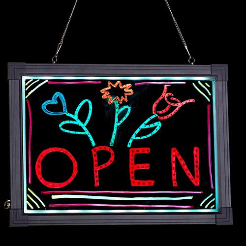 Alpine Industries 495-01 16x12-Inch Led Illuminated Hanging Message Writing Board, EA