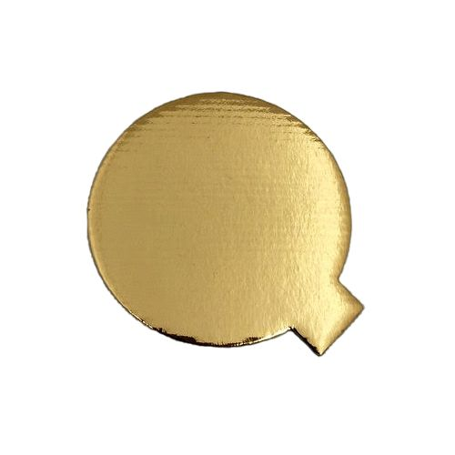 SafePro 4RGS 4-Inch Gold Round Cardboard Pads with Tab, 400/CS