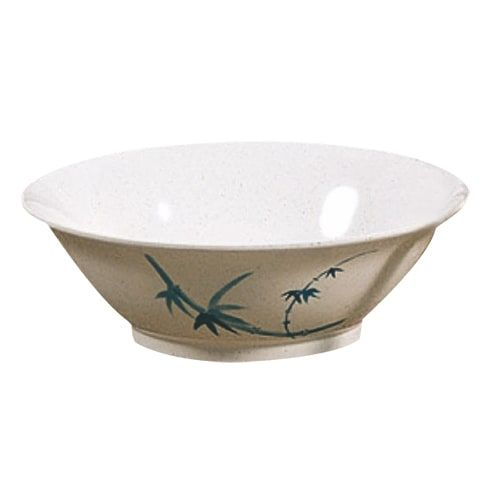 Thunder Group 5008BB 35 Oz 8 Inch Asian Blue Bamboo Melamine Round Special Deep White Bowl, DZ