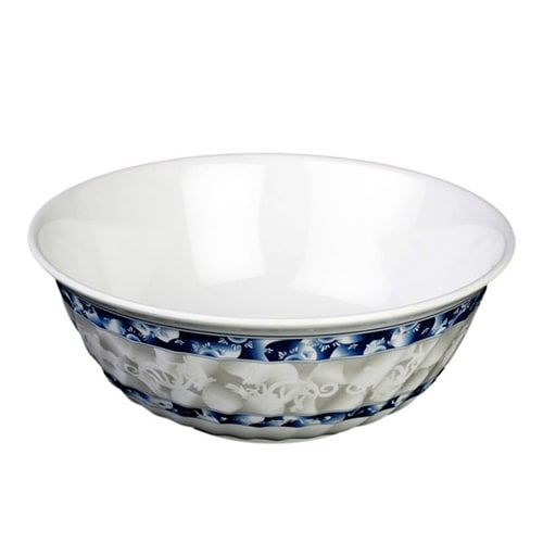 Thunder Group 5308DL 48 Oz 8 Inch Diameter Asian Blue Dragon Melamine Swirl Bowl, DZ