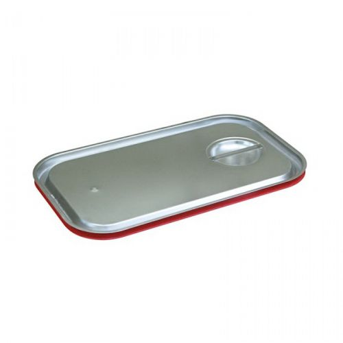 56218, Red Silicone Seal Stainless Steel Cover for Third Size Pan