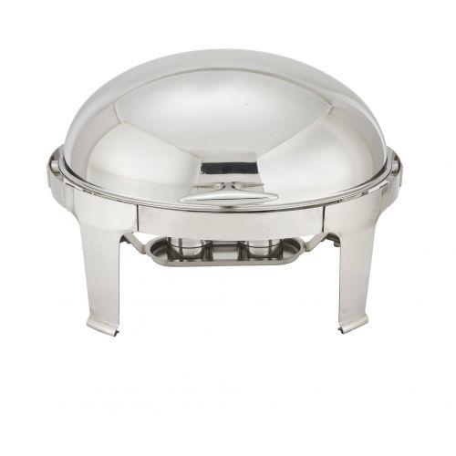 Winco 603, 7-Quart Madison Oval Stainless steel Chafing Dish with Roll Top