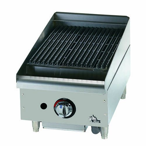 Star Manufacturing 6115RCBF, 15-Inch Countertop Radiant Gas Charbroiler, cULus, UL-EPH
