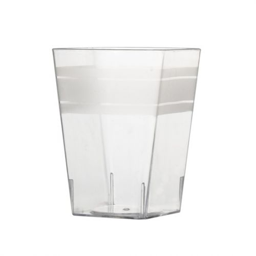 Fineline Settings 6404-CL, 2.25x3-Inch Clear Plastic Tiny Tumblers, 200/CS