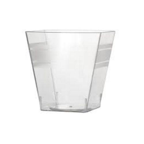 Fineline Settings 6411-CL, 2 Oz. Clear Plastic Tiny Cubes, 200/CS