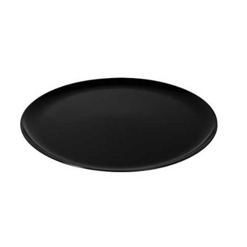 Fineline Settings 7201-BK, 12-Inch Platter Pleasers Black Round Supreme Plastic Trays, 25/CS