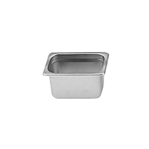 Thunder Group STPA9164, Sixth Size Stainless Steel 4-Inch Deep Anti Jam Pans 25 Gauge