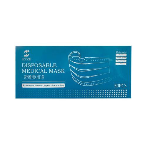FMASK/MED Medical Blue Earloop Face Mask, 50/PK