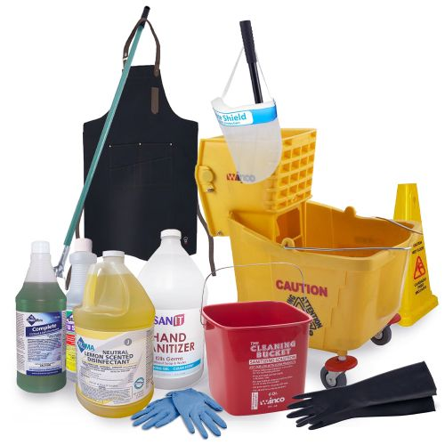 Supermarkets, Warehouses, Real Estate Cleaning / Disinfecting Package (160 Items)