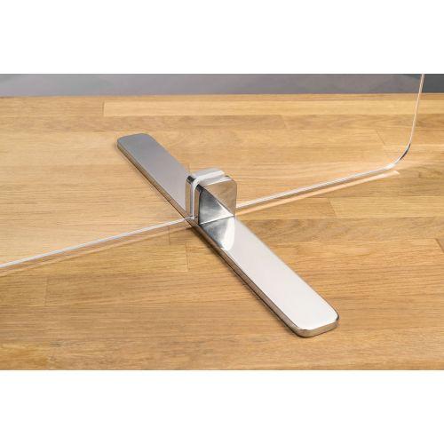 TRNGRD-S1 24x24-Inch Acrylic Protective Side Guard, Pole w/Sikura