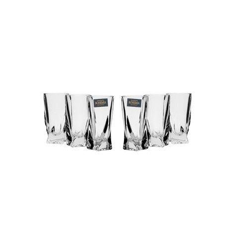 """Bohemia Crystal A4405, 1.7 Oz """"Quadro"""" Shot Glasses, 6/pk"""