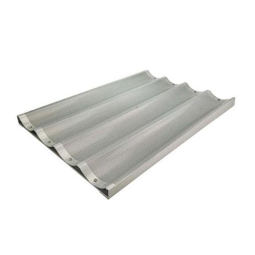 Winco ABP-4L, 18x26-Inch 4 Slot Long Aluminum Baguette Pan, NSF