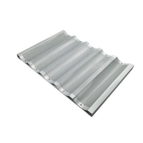 Winco ABP-5W, 18x26-Inch 5 Slot Wide Aluminum Baguette Pan, NSF