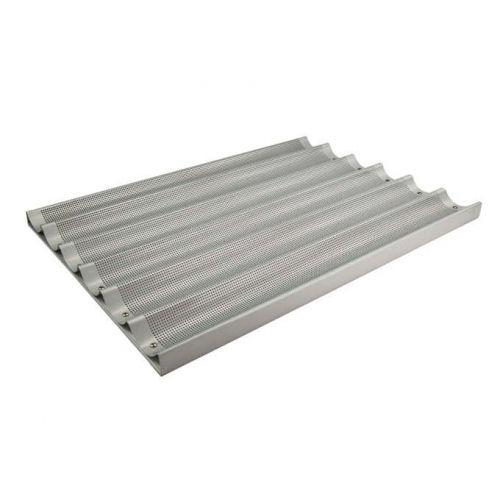 Winco ABP-6L, 18x26-Inch 6 Slot Long  Aluminum Baguette Pan, NSF (Discontinued)