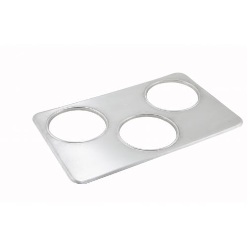 Winco ADP-666, Adaptor Plate, Three 6.4 Inset Holes