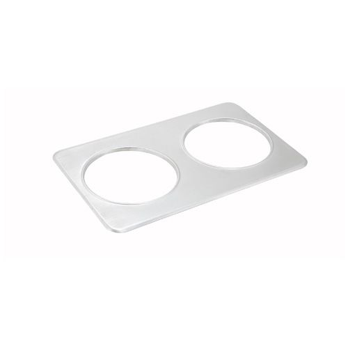 Winco ADP-808, Adaptor Plate, Two 8.4 Inset Holes