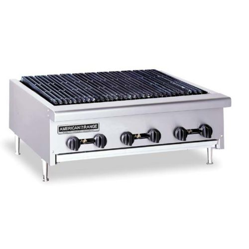 American Range AERB-24, Radiant Type 24 inch Gas Charbroiler with Grease Pan, Counter Model, NSF