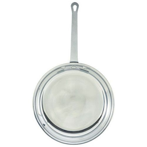Winco AFP-10, 10-Inch Mirror Finish Aluminum Fry Pan, NSF