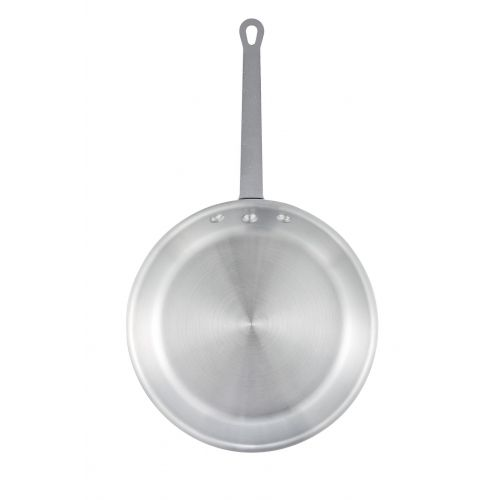 Winco AFP-12S, 12-Inch Satin Finish Aluminum Fry Pan, NSF