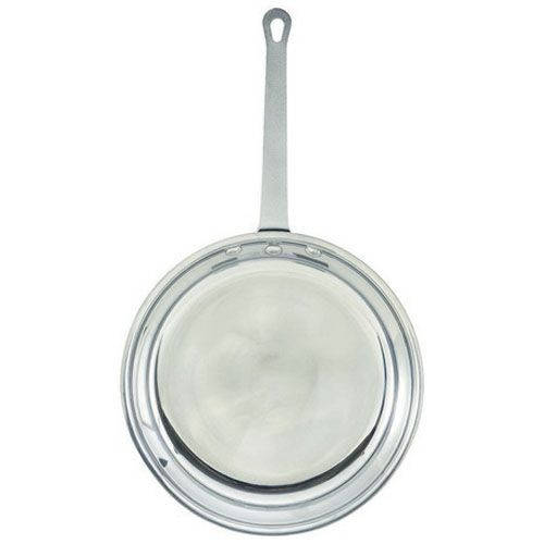 Winco AFP-8, 8-Inch Mirror Finish Aluminum Fry Pan, NSF