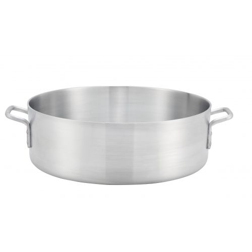 Winco ALB-35, 35-Quart 6-Inch High Win-Ware Aluminum Brazier Pan with 21.7-Inch Diameter and Reinforced Rim, NSF