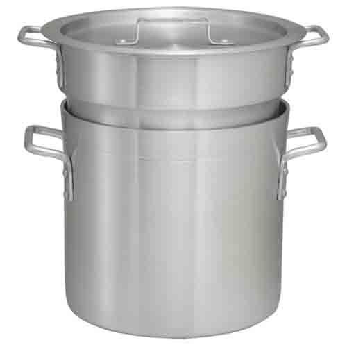 Winco ALDB-12, 12-Quart Double Aluminum Boiler with Cover (Discontinued)