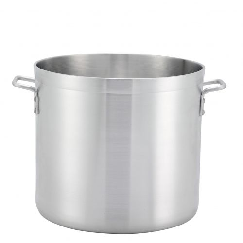 Winco ALHP-120, 120-Quart 19.5-Inch High Extra-Heavy Aluminum Stock Pot with 21.7-Inch Diameter, NSF